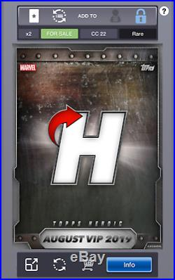 Elektra Silver Marvel Collect By Topps Digital Topps Heroic August 2019 VIP