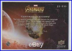 Elizabeth Olsen 2018 UD Marvel Avengers Infinity War Auto Autograph II-EO SP