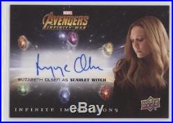 Elizabeth Olsen Scarlet Witch 2018 Marvel Avengers Infinity War Autograph II-OE