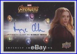 Elizabeth Olsen Scarlet Witch 2018 Marvel Avengers Infinity War Autograph II-SW