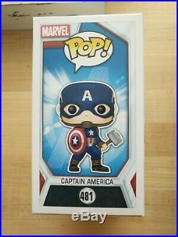 Endgame Funko Pop CAPTAIN AMERICA 481 Figure Marvel Collectors Corp