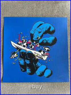 Ermsy Roll Screen print Limited Blue Edition /16 SOLD OUT marvel rare art
