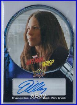 Evangeline Lilly 2018 Upper Deck Marvel Ant Man Wasp Die Cut Auto Autograph Ssp