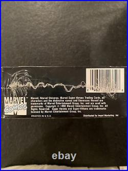 Factory Sealed 1990 Marvel Universe Series 1 Comics Impel Trading Cards Box