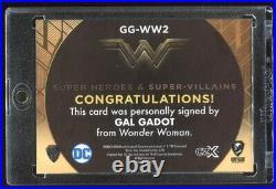 GAL GADOT 2019 Cryptozoic CZX DC Super Heroes Villains Wonder Woman AUTO 16/20