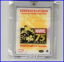 Groot Sketch Card Marvel 75th Anniversary Guardians Of The Galaxy 1/1 F Kadar