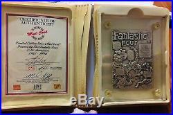 Highland Mint Marvel Comics Fantastic Four Silver / Bronze Card Signed Stan Lee