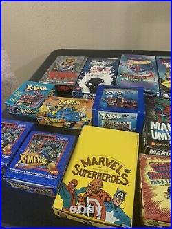 Huge Lot Marvel Trading Cards, Boxes, And More