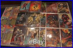 Huge Marvel + Sets 811 Card Lot Masterpieces Flair X-men Upper Deck 91 94
