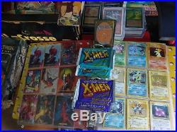 Huge Trading Card Lot Magic the gathering, Pokemon, marvel, DC, garbage Pail kid