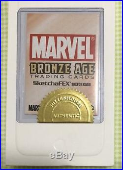 INCENTIVE SKETCH CARD STORM by Warren Martineck, 2012 Marvel Bronze Age, Rare