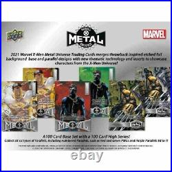 IN HAND 2021 Marvel X-Men Metal Universe Trading Cards Box Upper Deck