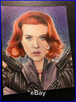 JASON DAVIES Marvel Universe 2011 AP artist proof sketch card Black Widow