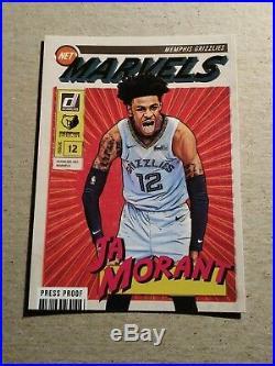 JA MORANT RC 2019-20 Donruss NET MARVELS PRESS PROOF #9 Memphis Grizzlies