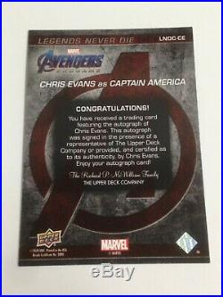 JUD Avengers Endgame & Captain Marvel Chris Evans as Captain America Auto SP