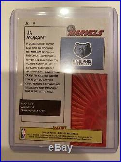 Ja Morant Net Marvels Press Proof Gold Rookie Card
