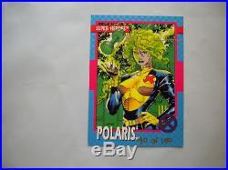 Jim Lee Signed X-Men Impel Series 1 RARE Polaris Card Marvel Comics 1992