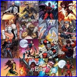 Jim Lee X-Men Trading Card 29 Variant Set Marvel Comics deadpool pyslocke cable