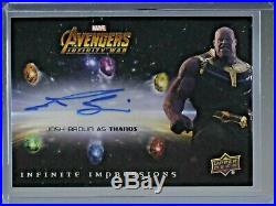 Josh Brolin Thanos Impressions Marvel Avengers Infinity War Auto Autograph SP