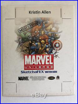 Kristin Allen artist proof AP sketch card Marvel Universe Magik 4x5