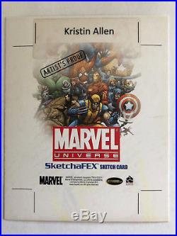 Kristin Allen artist proof AP sketch card Silk Marvel Universe 4x5 Spider-Man