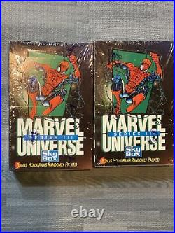 LOT OF 2 BOXES 1992 Marvel Universe Series 3 Trading Cards Factory Sealed Box