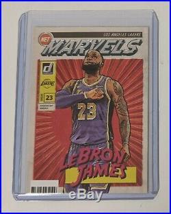 LeBron James 2019-20 Panini Donruss Net Marvels Lakers #19 MVP Hot