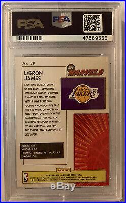 Lebron James 2019-20 Panini Donruss Net Marvels #19 PSA 10 Lakers