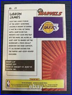 Lebron James 2019-20 Panini Donruss Net Marvels Insert Sp La Los Angeles Lakers