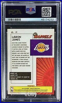 Lebron James 2019 Panini Donruss Net Marvels #19 PSA 10 Lakers 4232