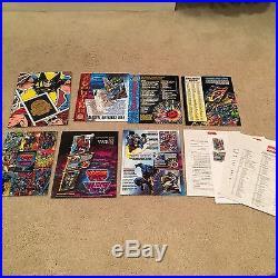Lot of 5 Marvel X-men Sell Sheet Folders 1994 1995 Masterpieces Universe Sets