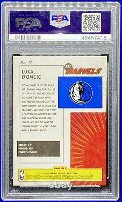 Luka Doncic 2019-20 Donruss Net Marvels #17 Dallas Mavericks Mint PSA 9