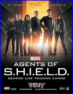 MARVEL AGENTS SHIELD Season 1 Trading Cards Factory Sealed CASE of 12 BOXES