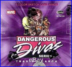 Marvel Dangerous Divas Series 2 (rittenhouse) 12 Box Case Blowout Cards