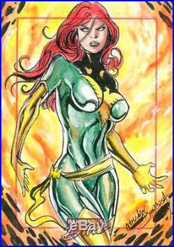 MARVEL Dangerous Divas series 1 sketch card of PHOENIX by NEWTON BARBOSA