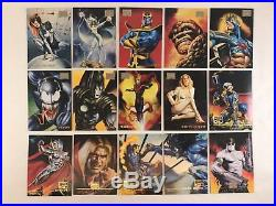 MARVEL MASTERPIECES Fleer Skybox 1996 Boris & Julie COMPLETE 100 CARD BASE SET