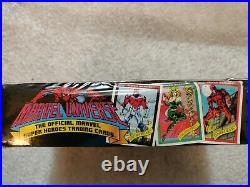 MARVEL UNIVERSE SERIES 1 TRADING CARDS 1990 IMPEL Full Box 36 Sealed Packs