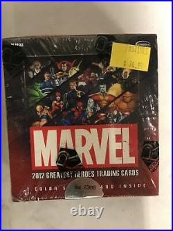 Marvel 2012 Greatest Heroes Trading Card Game Sealed Booster Box TCG Upper