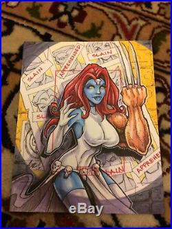 Marvel 70th Anniversary Artists Proof X-Men 141 Mystique Sketch Card Axebone