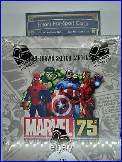 Marvel 75th ANNVERSARY 2014 Factory Sealed Trading Card Hobby box Sketch Card