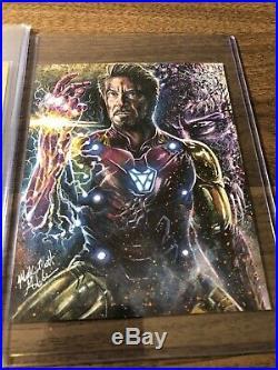 Marvel 75th Anniversary/premier/greatest Battles Glebe Ironman Endgame Sketch
