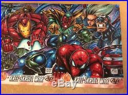Marvel Avengers Kree Skrull War Artist Proof 3 Puzzle Sketch Card AP Melike Acar