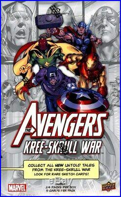 Marvel Avengers Kree-skrull War 12 Box Case Blowout Cards