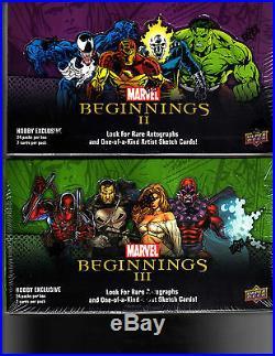 Marvel Beginnings Series 2 Series 3 Sealed box cards