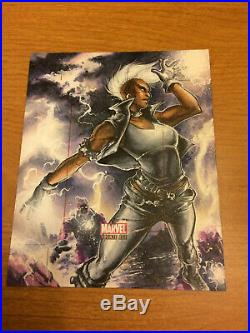 Marvel Bronze Age Artists Proof Mohawk Storm Sketch Card Meghan Hetrick