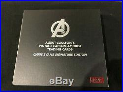 Marvel Captain America EMX Trading Card Collection Chris Evans Autograph Display