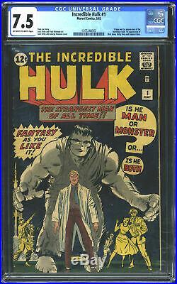 Marvel Comics Incredible Hulk #1 CGC 7.5 Off White to White