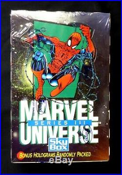 Marvel Comics Universe Series 3 Trading Card Box Skybox 1992 New Amricons