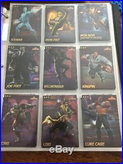 Marvel Contest of Champions Dave Busters COMPLETE Card Set 75 Mixed Foil Nonfoil