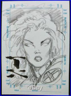 Marvel Creators Collection Original Sketch Card of STORM X-Men by Mark Texeira